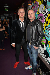 Left to right, DAVID GRAHAM and FAT TONY at Hoping's Greatest Hits - the 10th Anniversary of The Hoping Foundation's charity benefit held at Ronnie Scott's, 47 Frith Street, Soho, London on 16th June 2016.