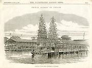 Prince Alfred in Ceylon. Landing of His Royal Highness in Colombo. June 1870.<br /> Illustrated London News.
