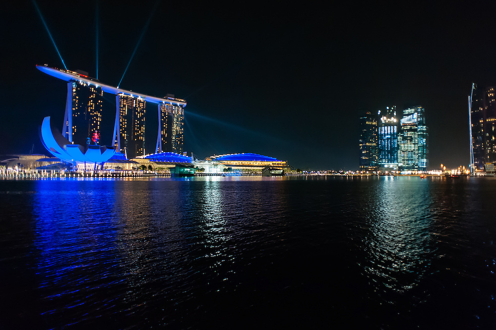 Marina Bay Sands Hotel at night (Singapore)
