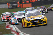 Tom Chilton - Team Shredded Wheat Racing with Gallagher - Ford Focus RS leads the pack during the British Touring Car Championship (BTCC) at  Brands Hatch, Fawkham, United Kingdom on 7 April 2019.