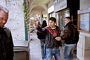 FRANCE. Youths from suburb of Blois wander around the historic town centre. 2005.