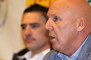 BELGIUM / BELGIQUE / BELGIE / LICHTAART / CYCLING / CYCLISME / WIELRENNEN / CYCLOCROSS / VELDRIJDEN / CYCLO-CROSS / TELENET - FIDEA CYCLING TEAM / TELENET FIDEA CYCLING TEAM / PRESS CONFERENCE / PERSCONFERENTIE / FORMER COACH MARC JANSSENS / MANAGER HANS VAN KASTEREN /