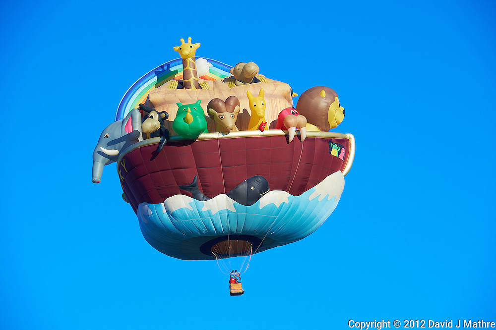 Noah's Ark. Albuquerque 2012 Balloon Fiesta Final Day. Nikonians ANPAT 12. Image taken with a Nikon D4 and 70-200 mm f/2.8 VRII lens (ISO 100, 155 mm, f/7.1, 1/200 sec).