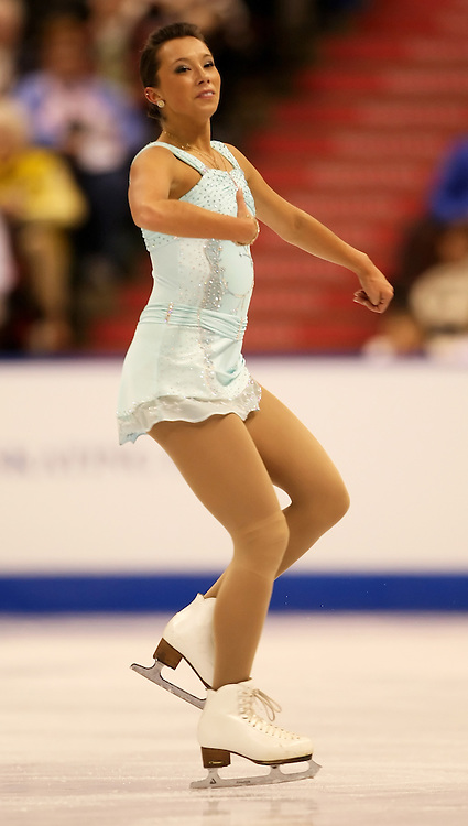 (Ottawa, ON---1 November 2008)  Myriane Samson of Canada competes in the women's free skate at the 2008 HomeSense Skate Canada International figure skating competition. Photograph copyright Sean Burges/Mundo Sport Images (www.msievents.com).