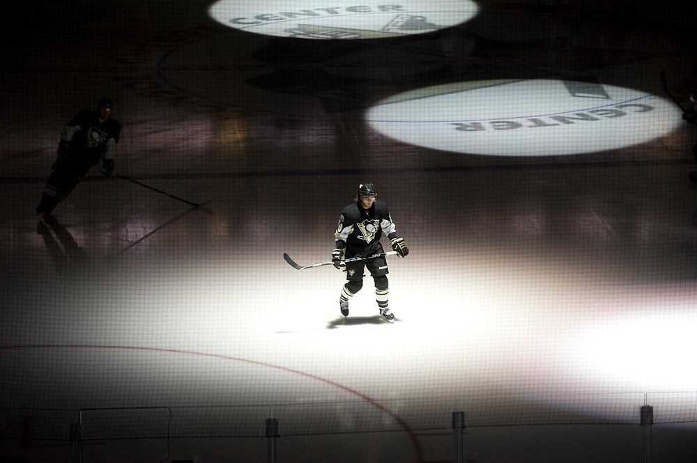 Sidney Crosby takes the ice before a Pittsburgh Penguins Preseason Game at the new Consol Energy Center.