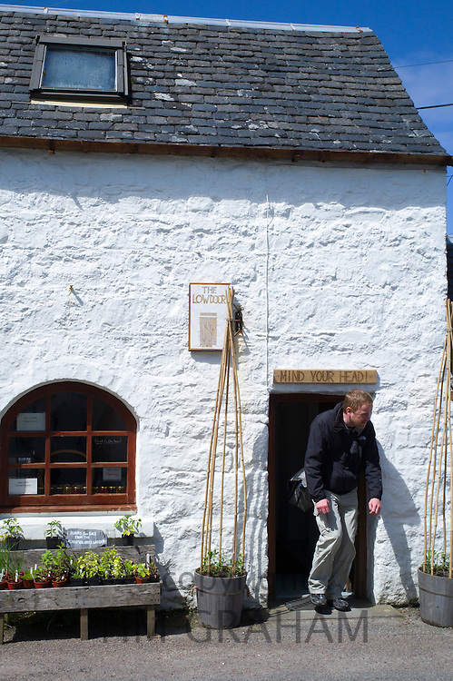 The quaint Low Door Shop on Isle of Iona in the Inner Hebrides and Western Isles, West Coast of Scotland