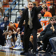 UNCASVILLE, CONNECTICUT- MAY 26:  Head coach Curt Miller of the Connecticut Sun on the sideline during the Los Angeles Sparks Vs Connecticut Sun, WNBA regular season game at Mohegan Sun Arena on May 26, 2016 in Uncasville, Connecticut. (Photo by Tim Clayton/Corbis via Getty Images)