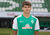 German Soccer Bundesliga 2015/16 - Photocall of Werder Bremen on 10 July 2015 in Bremen, Germany:  Luca-Milan Zander