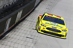 April 13, 2018 - Bristol, Tennessee, United States of America - April 13, 2018 - Bristol, Tennessee, USA: Paul Menard (21) bring his racecar down the backstretch during opening practice for the Food City 500 at Bristol Motor Speedway in Bristol, Tennessee. (Credit Image: © Chris Owens Asp Inc/ASP via ZUMA Wire)