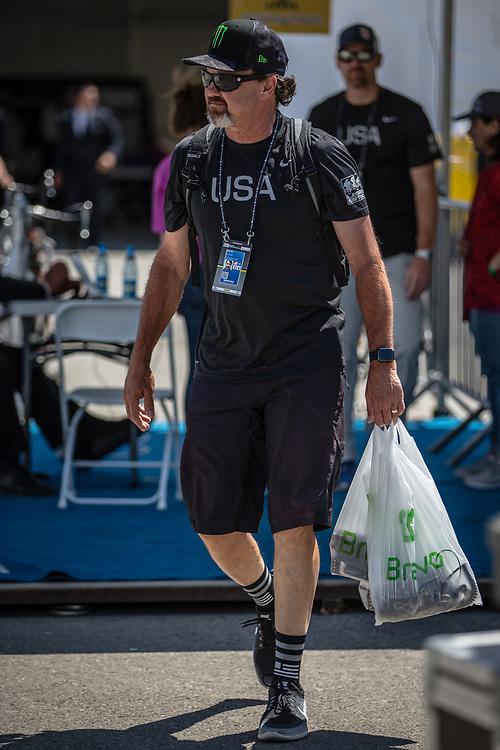 Team USA at the 2018 UCI BMX World Championships in Baku, Azerbaijan.