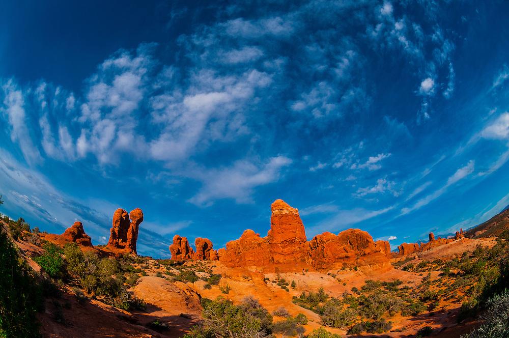 Garden of Eden, Arches National Park, near Moab, Utah USA