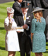 Royals, Steffi Graf At Royal Ascot Races