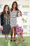 "21 April 2010- New York, NY- Kelli Bensimon and her daughters at The World Premiere of Dreamwork Animation's "" Shrek Forever After "" for the Opening Night of the 2010 Tribeca Film Festival held at the Zeigfeld Theater on April 21, 2010 in New York City."
