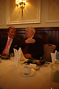 Terry Wogan and Richard Ingrams. The Oldie Of The Year Awards,  Simpsons in the Strand, London. 22 March 2005. ONE TIME USE ONLY - DO NOT ARCHIVE  © Copyright Photograph by Dafydd Jones 66 Stockwell Park Rd. London SW9 0DA Tel 020 7733 0108 www.dafjones.com