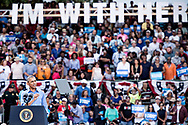 Amerikansk pr&aelig;sidentvalg 2016.<br /> Pr&aelig;sident Barack Obama talte for 11.000 fremm&oslash;dte ved et valgm&oslash;de for Hillary Clinton i Kissimmee, Florida,