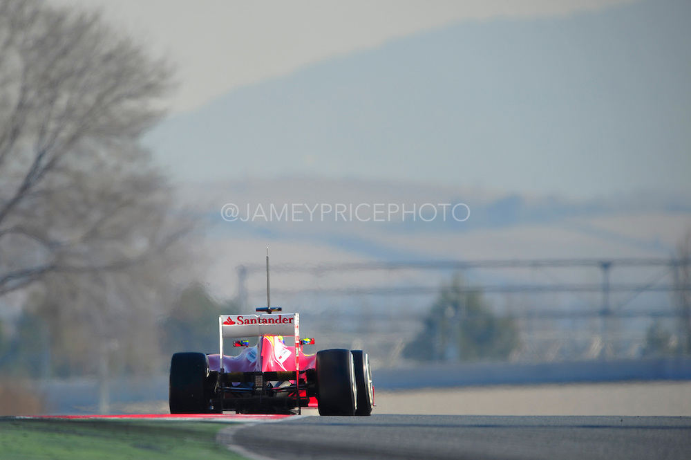 Felipe Massa (BRA) drives the Scuderia Ferrari F2012  Formula One Testing, Circuit de Catalunya, Barcelona, Spain, World Copyright: Jamey Price