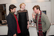 DAVID BIRKIN; GWENDOLINE CHRISTIE; NATHANIEL MELLORS, Ourhouse Nathaniel Mellors opening. ICA. The Mall. London. 8 March 2011. -DO NOT ARCHIVE-© Copyright Photograph by Dafydd Jones. 248 Clapham Rd. London SW9 0PZ. Tel 0207 820 0771. www.dafjones.com.