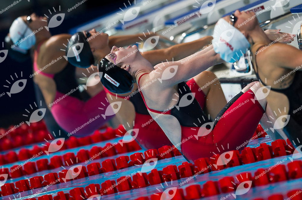 Missy Franklin USA gold medal<br /> Women's 200m backstroke final<br /> 15th FINA World Aquatics Championships<br /> Palau Sant Jordi, Barcelona (Spain) 03/08/2013 <br /> &copy; Giorgio Perottino / Deepbluemedia.eu / Insidefoto