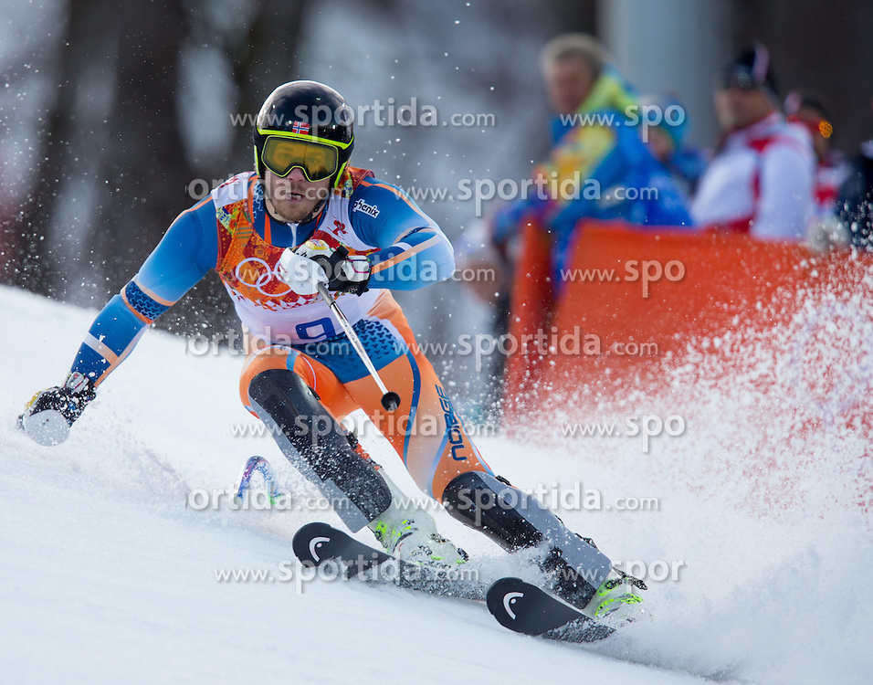 14.02.2014, Rosa Khutor Alpine Center, Krasnaya Polyana, RUS, Sochi 2014, Super- Kombination, Herren, Slalom, im Bild Kjetil Jansrud (NOR) // Kjetil Jansrud of Norway in action during the Slalom of the mens Super Combined of the Olympic Winter Games 'Sochi 2014' at the Rosa Khutor Alpine Center in Krasnaya Polyana, Russia on 2014/02/14. EXPA Pictures © 2014, PhotoCredit: EXPA/ Johann Groder