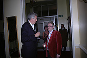 Henry Wyndham and Andrew Lambirth. Maggi Hambling The Works, and Conversations with ?Andrew Lambirth. the Polish Club. 18 January 2006.  ONE TIME USE ONLY - DO NOT ARCHIVE  © Copyright Photograph by Dafydd Jones 66 Stockwell Park Rd. London SW9 0DA Tel 020 7733 0108 www.dafjones.com