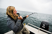 Dr. Joanne Edney joins in with her guests Halibut Fishing.