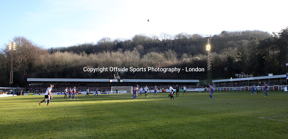 4 January 2015 FA Cup 3rd round - Dover Athletic v Crystal Palace ;  a general view of the Crabble Stadium.<br /> Photo: Mark Leech