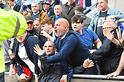 Tranmere Rovers fans getting out of hand after a pitch invasion during the EFL Sky Bet League 1 match between Rotherham United and Tranmere Rovers at the AESSEAL New York Stadium, Rotherham, England on 31 August 2019.