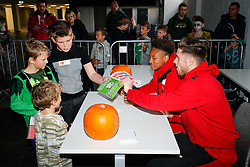 Bobby Reid and Wes Burns of Bristol City Football Club meet fans as Season ticket holders and members of Bristol Sport 7s and Forever Bristol take part in a Bristol Sport Halloween Event - Mandatory byline: Rogan Thomson/JMP - 07966 386802 - 29/10/2015 - SPORT - Ashton Gate Stadium - Bristol, England - Bristol Sport Halloween at Ashton Gate.