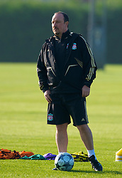LIVERPOOL, ENGLAND - Monday, November 3, 2008: Liverpool's manager Rafael Benitez during training at Melwood ahead of the UEFA Champions League Group D match against Club Atletico de Madrid. (Photo by David Rawcliffe/Propaganda)