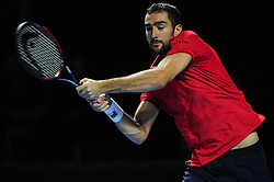 October 29, 2016 - Basel, Basel, Switzerland - Marin Cilic (CRO) during a match against Mischa Zverev (GER) in the semi-finals of the Swiss Indoors at St. Jakobshalle in Basel, Switzerland on October 29, 2016. (Credit Image: © Miroslav Dakov/NurPhoto via ZUMA Press)