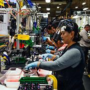 Rear shock assembly line.