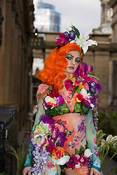 Performer dressed in exotic costume welcomed guests to the launch of the new Ivy restaurant in Buchanan St, Glasgow. Pic copyright Terry Murden @edinburghelitemedia