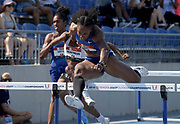 Jul 26, 2019; Des Moines, IA, USA; Brianna Rollins aka Brianna McNeal wins women's 100m hurdles heat  in 12.75 for the top time during the USATF Championships at Drake Stadium.