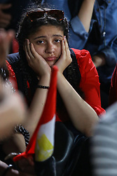 June 19, 2018 - Cairo, Egypt - Egyptian soccer fans react as they watch the FIFA World Cup 2018 group A preliminary round soccer match between Egypt and Russia in downtown Cairo, Egypt, on 19 June 2018. (Credit Image: © Ahmed Awaad/NurPhoto via ZUMA Press)