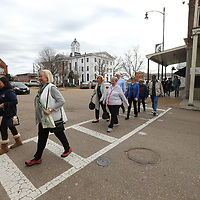 Retirees make their around downtown Oxford for lunch on Friday, as the city has been named one of the top retirees communities in the State of Mississippi.