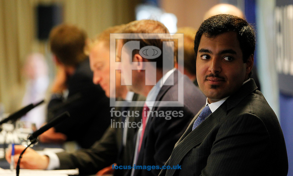 Sheikh Fahad Al Thani on the panel for the Quipo Guineas Lunch at Newmarket Rowley, Newmarket<br /> Picture by John Hoy/Focus Images Ltd +44 7516660607<br /> 29/04/2014