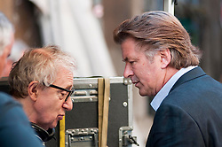 """FILE IMAGES: Woody Allen, Soon Yi and Alec Baldwin on the set of """"To Rome with love"""" in 2011. 30 Jul 2011 Pictured: Woody Allen, Alec Baldwin. Photo credit: AM1999 / MEGA TheMegaAgency.com +1 888 505 6342"""