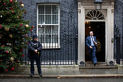 © Licensed to London News Pictures. 17/12/2019. London, UK. Foreign Secretary Dominic Raab  leaving Downing Street after attending a Cabinet meeting this morning. Photo credit : Tom Nicholson/LNP