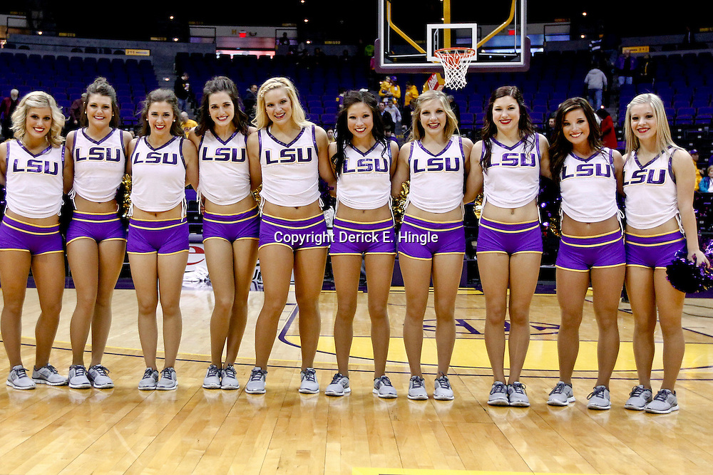 November 24, 2012; Baton Rouge, LA; LSU Tigers Tiger Girls dancers on the court following a game against the Mississippi Valley State Delta Devils at the Pete Maravich Assembly Center.  LSU defeated Mississippi Valley State 75-50. Mandatory Credit: Derick E. Hingle-US PRESSWIRE