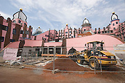 "The ""Grüne Zitadelle von Magdeburg"" (Green Citadel of Magdeburg), the last housing project by Austrian artist and architect Friedensreich Hundertwasser, in the final stages of construction. To be opened on October 3, 2005."