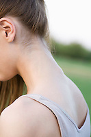 Close up of girl's neck