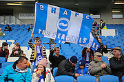 Young Brighton fans during the Sky Bet Championship match between Brighton and Hove Albion and Derby County at the American Express Community Stadium, Brighton and Hove, England on 2 May 2016. Photo by Phil Duncan.