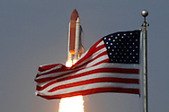 CAPE CANAVERAL, FL - JULY 15:  Space Shuttle Endeavour lifts off from launch pad 39-a at Kennedy Space Center in Cape Canaveral, Florida, July 15, 2009. Endeavour is scheduled for a 16-day construction mission to the International Space Station. (Photo by Matt Stroshane/Getty Images)