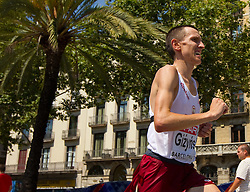 Mariusz Gizynski of Poland competes in the Mens Marathon during day six of the 20th European Athletics Championships at the roads of city Barcelona on August 1, 2010 in Barcelona, Spain. (Photo by Vid Ponikvar / Sportida)