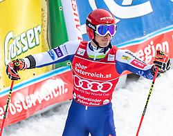 02.03.2020, Hannes Trinkl Weltcupstrecke, Hinterstoder, AUT, FIS Weltcup Ski Alpin, Riesenslalom, Herren, 2. Lauf, im Bild Zan Kranjec (SLO) // Zan Kranjec of Slovenia reacts after his 2nd run of men's Giant Slalom of FIS ski alpine world cup at the Hannes Trinkl Weltcupstrecke in Hinterstoder, Austria on 2020/03/02. EXPA Pictures © 2020, PhotoCredit: EXPA/ Johann Groder