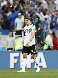 Mario Gomez of Germany during the 2018 FIFA World Cup Russia group F match between Germany and Mexico at the Luzhniki Stadium on June 17, 2018 in Moscow, Russia