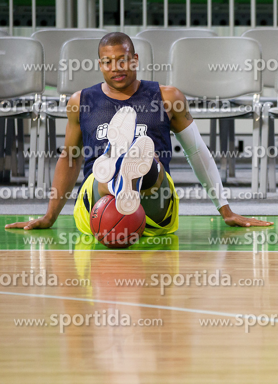 Mike Batiste during practice session of Fenerbahce Ulker Istanbul (TUR) a day before Euroleague Basketball match against Union Olimpija Ljubljana on October 18, 2012 in Arena Stozice, Ljubljana, Slovenia. (Photo By Vid Ponikvar / Sportida)