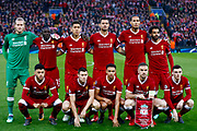 Liverpool pre match photo during the Champions League semi final leg 1 of 2 match between Liverpool and Roma at Anfield, Liverpool, England on 24 April 2018. Picture by Simon Davies.