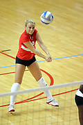 11 September 2007:  Kasey Mollerus sets up to receive the ball. Ohio State Buckeyes bested the Illinois State Redbirds 3 games to 1 at Redbird Arena on the campus of Illinois State University in Normal Illinois.