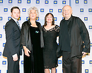 (L-R) Bobby Steggert, Tyne Daly, Patti LuPone and Terrence McNally at the HRC's Greater NY Gala 2014 held at the Waldorf=Astoria in New York City on Saturday, February 8, 2014. (Photo: JeffreyHolmes.com)